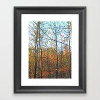 Vertical Parallels Framed Art Print