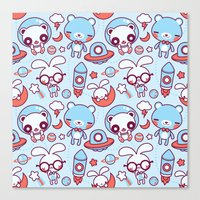 Kawaii Pattern  Canvas Print
