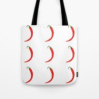 Tote Bag featuring chili pepper by Panic Junkie