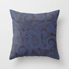 Paisley Platinum Throw Pillow