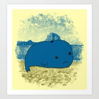 Why Such A Lonely Beach? Art Print