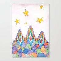 Canyon Under Stars Canvas Print
