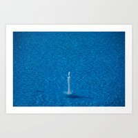 Water fountain Art Print