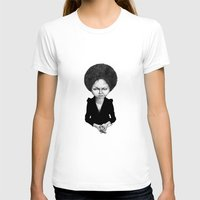 Nina Simone Womens Fitted Tee White SMALL