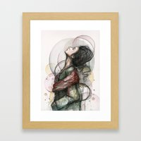 Beauty Illustration Framed Art Print