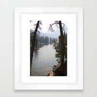 saddleback lake Framed Art Print