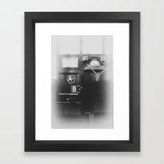 Old public telephone Framed Art Print