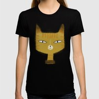 SINISTER KITTY Womens Fitted Tee Black SMALL