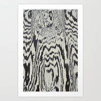 Zebra Wood Art Print