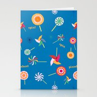 Spin! Pinwheel Spin! Stationery Cards
