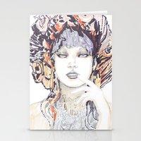 Spring Fashion Portrait Stationery Cards