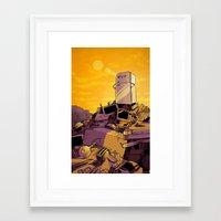 slow consumption Framed Art Print