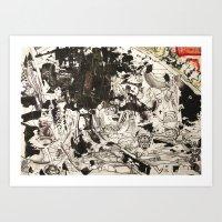 At The Deep Black Bottom… Art Print