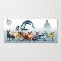 Pokemon-Eevee Canvas Print