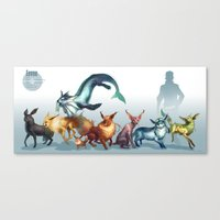 Pokemon-Eevee Canvas Print
