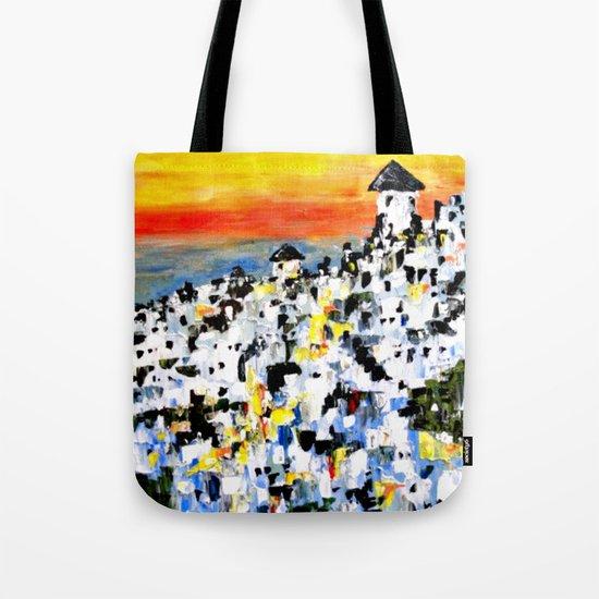 Abstract Santorini, Greece Landscape Tote Bag