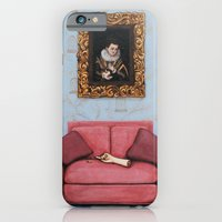 iPhone & iPod Case featuring Portrait of a Stymied Lady and her Dog by Elena Duff