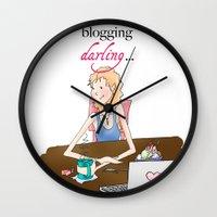 Just Keep Blogging, Illustration Wall Clock