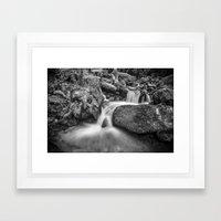 Wild water. Monochrome Framed Art Print