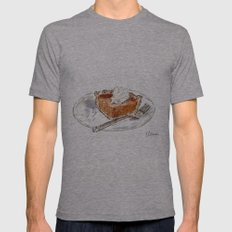 Pumpkin Pie Mens Fitted Tee Athletic Grey SMALL