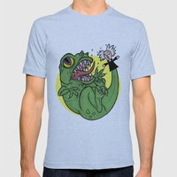 The Dinosaur  Mens Fitted Tee Athletic Blue SMALL