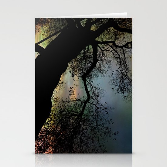 Night Fall by The Tree Stationery Card