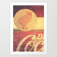 Chicks & Coke Art Print