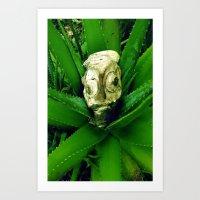 Petrified Fishhead Art Print