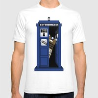 Dr. Dalek Mens Fitted Tee White SMALL