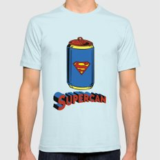 Supercan Mens Fitted Tee Light Blue SMALL