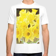 Daffodils White SMALL Mens Fitted Tee