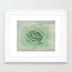 Dreamy Vintage Floating Rose Framed Art Print