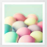 Colored Laid Eggs Art Print