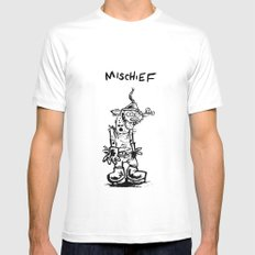 Mischief Mens Fitted Tee White SMALL