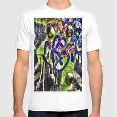 Fonky  White Mens Fitted Tee SMALL