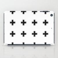 Watercolor Swiss Cross (White) iPad Case