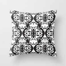 Lace Damask Throw Pillow