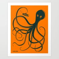 Art Print featuring EXPLORE by Jazzberry Blue