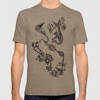 fear of being ordinary Mens Fitted Tee Tri-Coffee SMALL