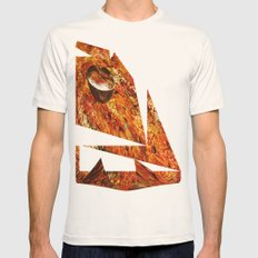 Abstract Texture  Mens Fitted Tee Natural SMALL