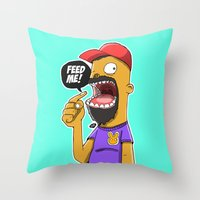 Feed Me! Throw Pillow