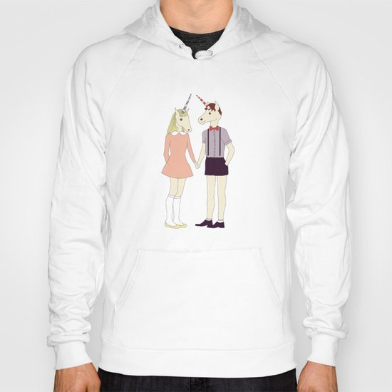 Our love is unique, we are Unicorns (text version) Hoody