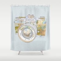 Travel Canon Shower Curtain