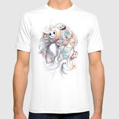 The Grim Bunch White SMALL Mens Fitted Tee