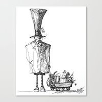 A man in a hat Canvas Print