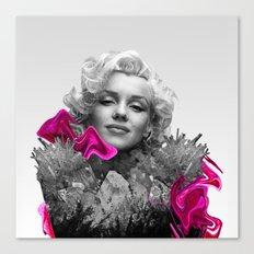 Quartz Armor & Roses in Her Hair Canvas Print