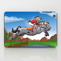 Olympic Equestrian Jumping Dog iPad Case