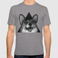 Sausage Fox Mens Fitted Tee Tri-Grey SMALL