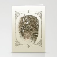 Portrait of a Buffalo Stationery Cards