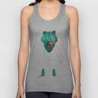 Wolf With F**king lasers Unisex Tank Top